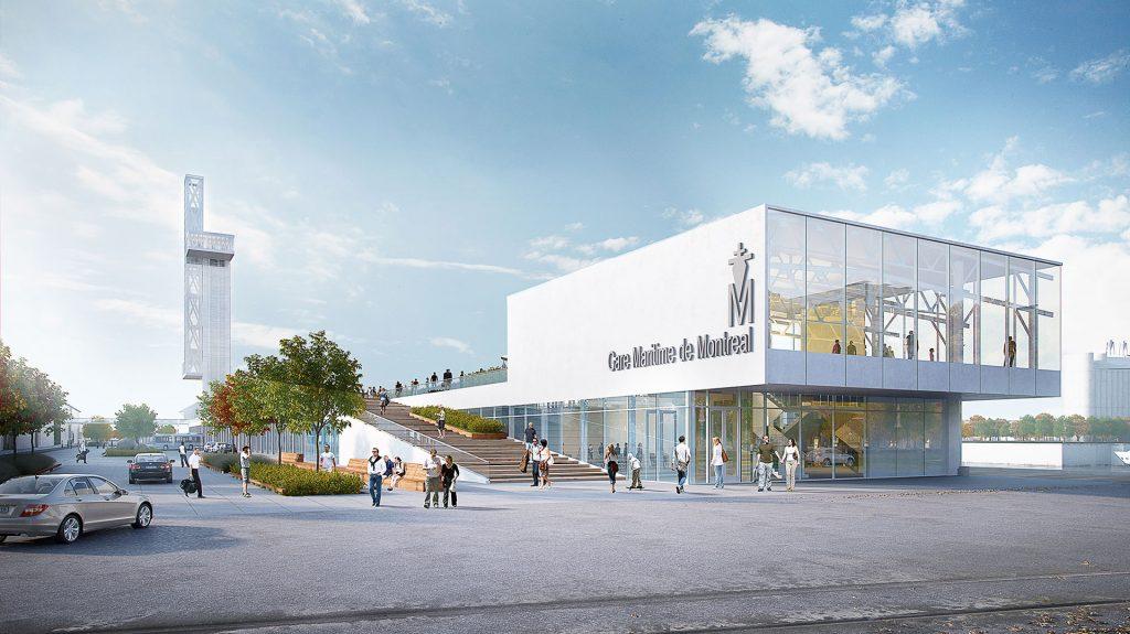 La nouvelle jetée Alexandra, une signature pour Montréal, dont l'inauguration est prévue pour 2017.