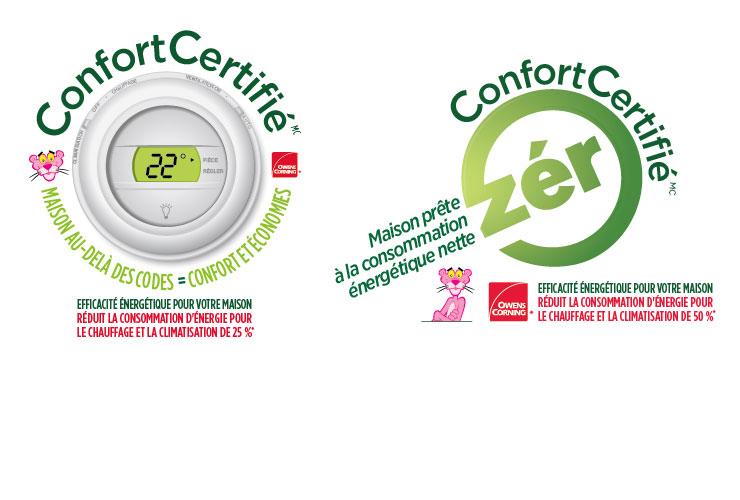 Les maisons ConfortCertifiéMC et les maisons ConfortCertifiéMC prêtes à la consommation énergétique nette zéro