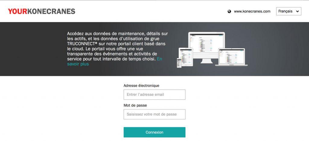 Sur yourKONECRANES.com, GKM peut toujours suivre les dates. yourKONECRANES.com permet en outre de faire une demande de services en ligne.